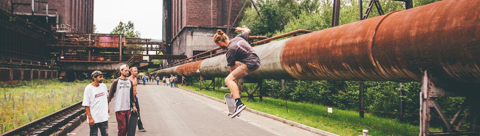 Skater auf der Kokerei Hansa, © Julius Gnoth