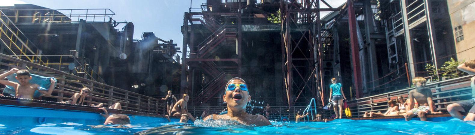 Werksschwimmbad auf dem UNESCO-Welterbe Zollverein in Essen, © Jochen Tack